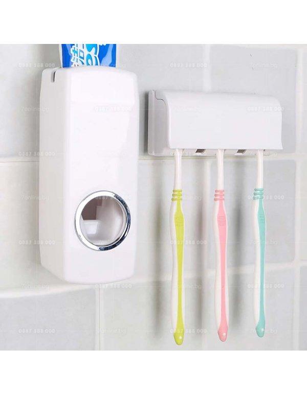 Автоматичен диспенсър за паста за зъби -