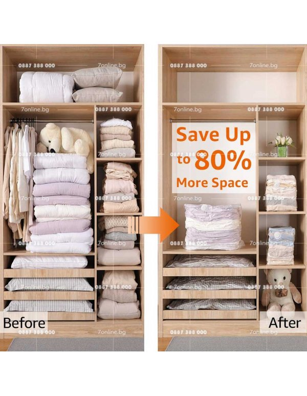 3бр. Вакуум пликове за дрехи - Домашни потреби
