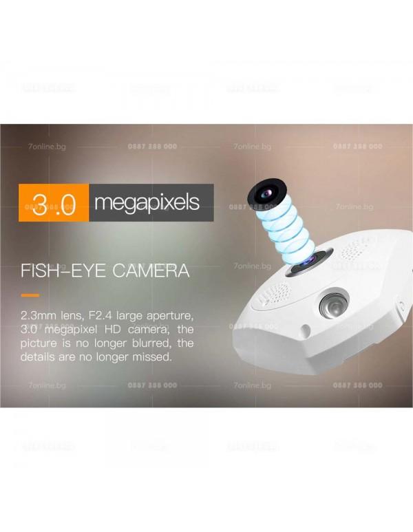 Панорамна 360-камера-Fisheye-3MPX -