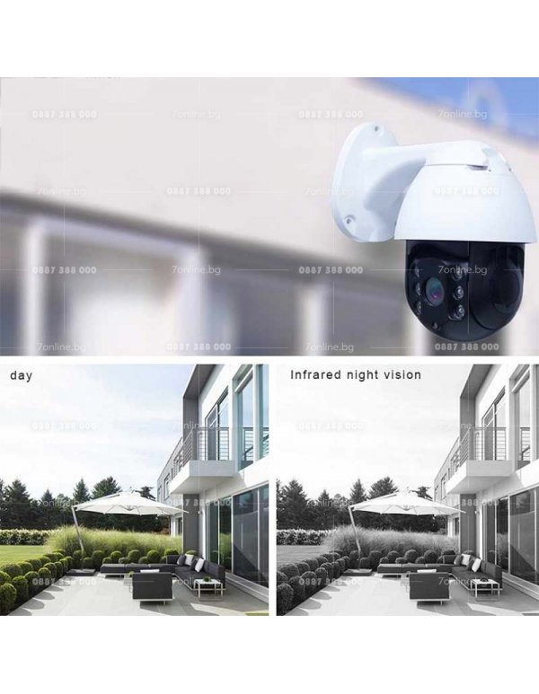 Въртяща безжична камера -2MPX - 6LED - Видеонаблюдение