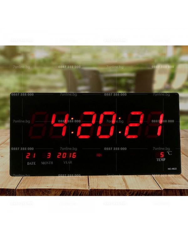 Цифров часовник с термометър -