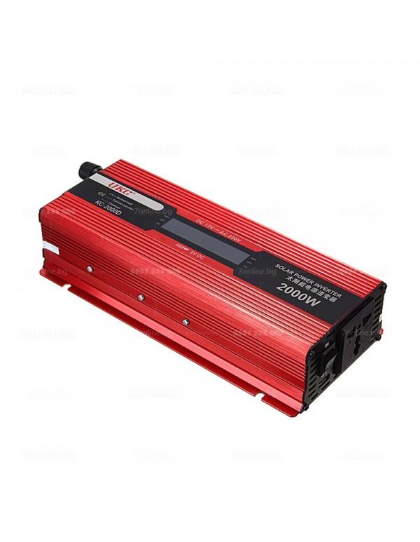 Инвертор с дисплей 12-220V 2000W - Инвертори