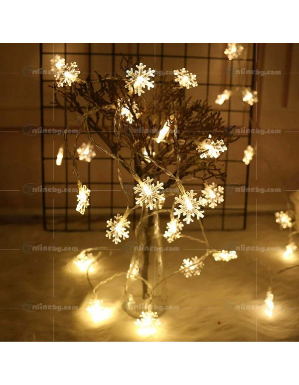 Декоративни LED лампички Snowflake - LED осветление