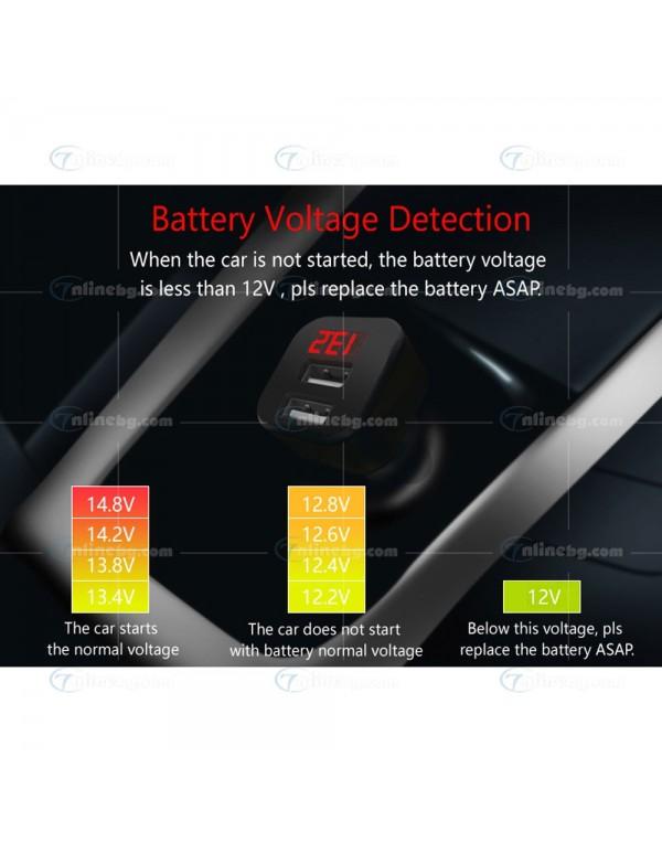 Авто волтметър за запалка с USB - Зарядни