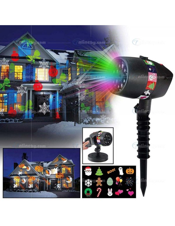 Лазерен проектро Slide Shower - LED осветление