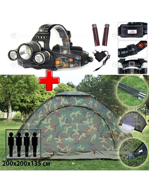 ПРОМО ОФЕРТА: Четириместна палатка + Фенер тип