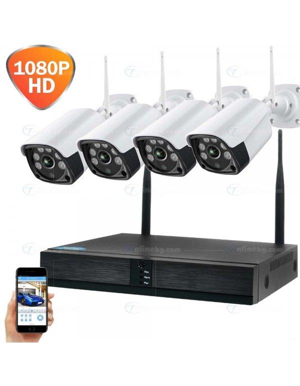 5G Видеонаблюдение с 4 камери - Видеонаблюдение