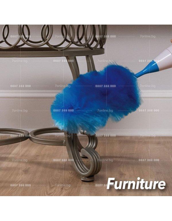 SPIN DUSTER Електрическа четка за почистване на прах -