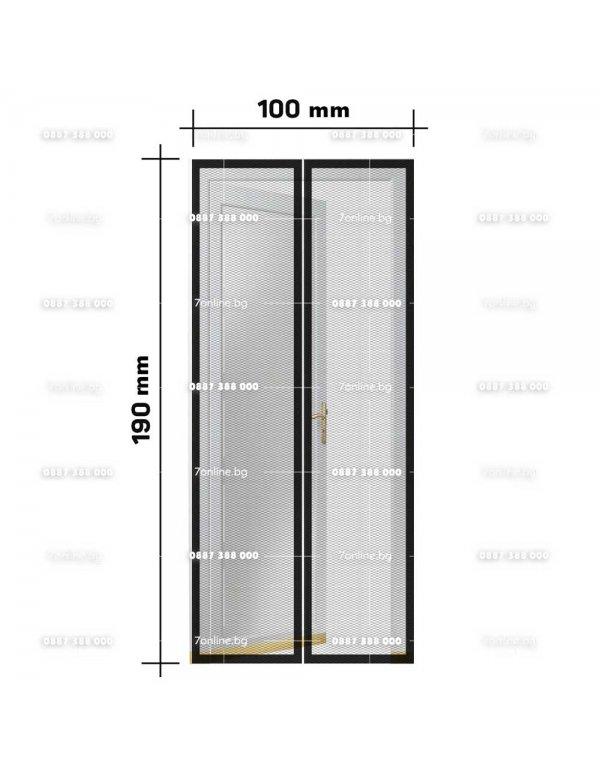 Мрежа за врата против комари и насекоми - магнитна - Къмпинг
