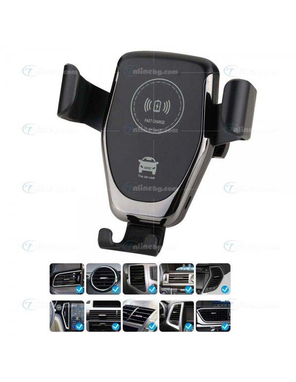 2в1 Безжично Qi зарядно и стойка за автомобил - Инструменти и аксесоари